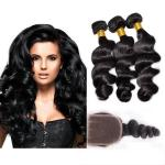 Black Color 100 Virgin Cambodian Loose Curly Hair With Baby Hair More Natural