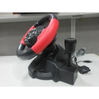 video game steering/ racing wheel with foot pedal for PC, X-INPUT, PS2, PS3