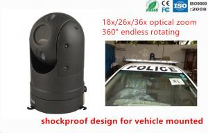 China Auto Tracking 18X Optical Zoom Police Car Cameras Speed 1.3MP AHD PTZ Camera on sale