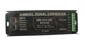 China DMX To 0 - 10V PWM Signal Converter Full Protective Aluminum Housing Available on sale