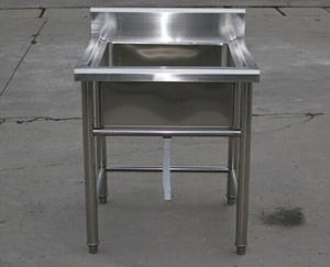China Industrial Stainless Steel Shelving Restarant Equipment Wash Sink With Tap Hole on sale