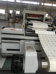 Quality Low Noise Automatic Paper Reel Cutting Machine With Shaftless / Frame for sale