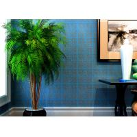 China High Range Blue Bronzing Non-Woven Paper Modern Removable Wallpaper for Living Room on sale