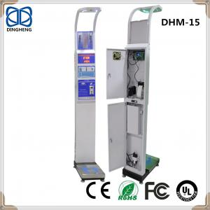 China DHM-15 Height Weight body scale with coin and printer adult height measuring board from China Factory digital height on sale