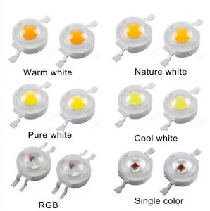China 5000 - 6000K Pure white 1 Watt High Power With Bridgelux Chip , high power led components on sale