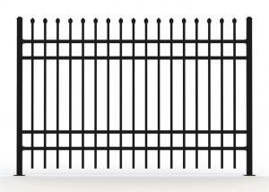 China Metal wrought iron steel fence panels on sale