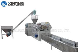 China LDPE HDPE Waste Plastic Recycling Pelletizing Machine Granulator Double / Single Stage on sale