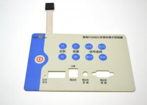 China Embossed / Flat Keys Tactile Membrane Switch For Remote Controller Custom Logo on sale