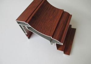 China Wood Grain Aluminium Window Profiles on sale