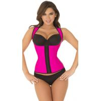 Sexy Bodyshapers Wholesale Hot Pink Thick Strapped Contour Waist Trainer with size S M,L,XL