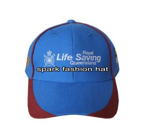 Quality Wholesale patchwork sports cap with embroidery logo for sale