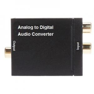 China Black TV  Analog to Digital Converter box 48 KHz With Optical Fiber and Coaxial cables on sale