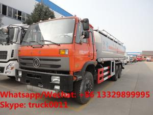 China dongfeng 6*4 LHD 210hp diesel 23000L dongfeng double rear axles oil truck for sale, wholesale price Fuel tank truck on sale