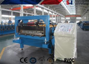 China Steel Ribbed Roofing Roll Forming Machine , Glazed Tile Roll Forming Machine on sale