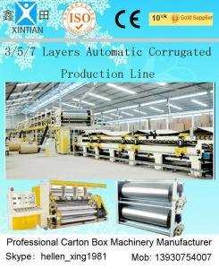 China 100 Pieces / Min 5 Layer Corrugated Cardboard Production Line 1800mm Width on sale