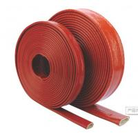 China Silicone Coated Fiberglass Sleeving Conduit , High Temperature Flame Retardant Sleeving on sale