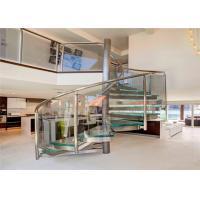 Steel spiral stair / Oak spiral staircase / decorative spiral stair