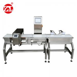 China Automatic Alarm Light Combined Convey Belt Food Metal Detector Checkweigher on sale