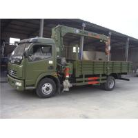 China hot sale Dongfeng 4*2 LHD/RHD 120hp diesel 4ton truck with crane, best price DONGFENG 4tons cargo truck with crane on sale