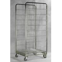 Zinc Galvanized Foldable Storage Trolley / Roll Cage Container 717 * 823 * 1715 Mm