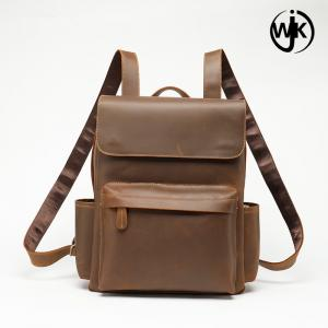 China 2019 newest style brown backpack eco friendly backpack  custom leather backpack women on sale