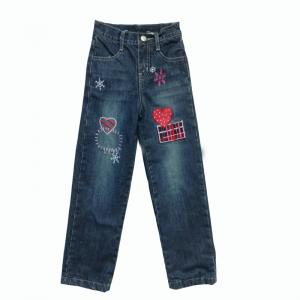 China 100% Cotton New Design Denim Jean Pant for Kids Girl. on sale