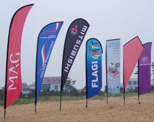 China Custom PVC flex, polyester, fishnet custom flags banners printing,OEM on sale