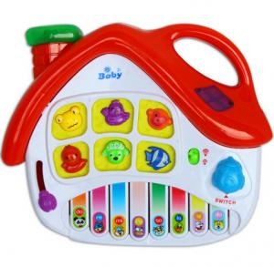 China Small House Baby Musical Educational Toy Electronic Piano , Red / Blue on sale