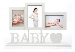 China Baby Wooden Photo Frames Handprint / Footprint Photo Frame Home Decoration Gifts on sale