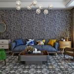 High-end Household Wallpaper Decor Black Color Plant Fiber Bronzing Process