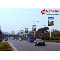 3G 4G Wireless Creative LED Display P6 Pole Outdoor Street LED display