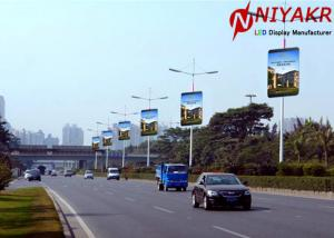 China 3G 4G Wireless Creative LED Display P6 Pole Outdoor Street LED display on sale