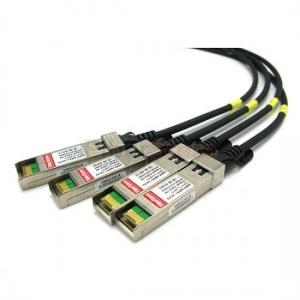 China 10 Gigabit Ethernet Passive 3m QSFP+ Copper Cable Break out For Juniper QFX-QSFP-DACBO-3M on sale