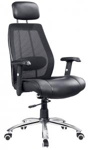 China Series of Mesh Chairs with chrome base and adjustable arms, manager chairs MC807A on sale