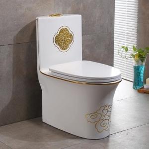 2018 New design one piece siphonic luxury decoration good sale ...