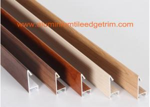 Quality Fashionable Aluminum Sectional Picture Frames Heat Transfer Printing Wood Grain For