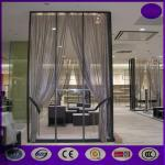 China Silver color Aluminum metal curtain metal chain link fly pest insect door screen curtain wholesale