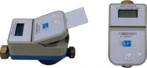 China Smart Card Type Combination Water Meter , STS Prepaid Water Meter With LCD Display on sale