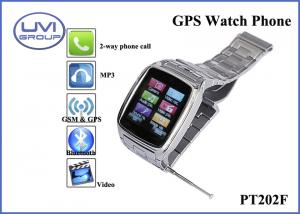 China Touch Screen Real Time Tracking Watch Phone, Personal GPS Trackers with 1.3MP Camera + Bluetooth + FM+ MP3, WAP, Ebook on sale