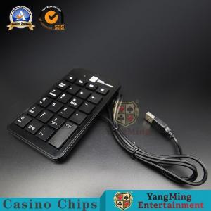 China Slim Baccarat Gambling Systems USB Number Keyboard Black Plastic Wired Keyboard Table System on sale