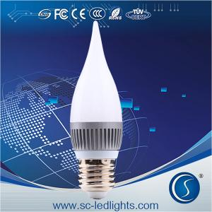 China 2014 New product flicker flame E14 candle led light on sale