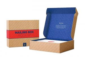 China Currugated Paper Small Cardboard Packing Boxes Eco Friendly Flora Printed on sale