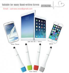 China 3 in 1 Touch Pen  for Ipad/ Iphone /Phone/PC, Cable Pen S, Stylus Pen with Micro USB cable on sale