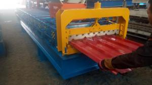 China 4kw 380V PPGI Roof Panel Roll Forming Machine For 840mm Width Steel Tiles on sale