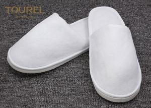 China Recyclable Disposable Hotel Slippers For Guests Nonwoven Cotton Towel Terry Material on sale