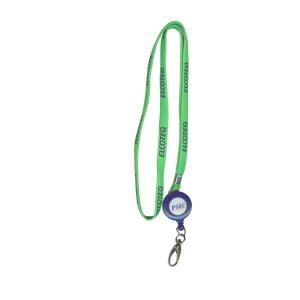 China Tubular polyester id lanyard with retractable pull reel, office badge lanyards, on sale