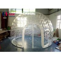 Inflatable Double Layer Transparent Bubble Inflatable Pvc Dome Tent Bubble Room