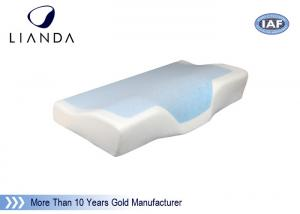 China Nice sleep cushion Cooling Gel Pillow / pad mesh and velboa cover on sale