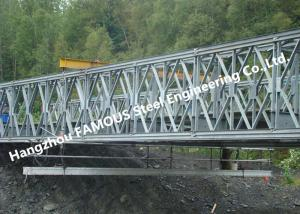 China Multi - Span Single Lane Steel Box Girder Bailey Bridges Structural Formwork Truss Construction on sale