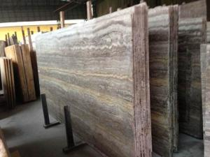 China Cheap Import Silver Dark Grey Vein Cut Travertine Marble In China Marble Window Sills on sale